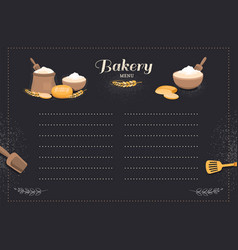 Menu template cafe bakery vector