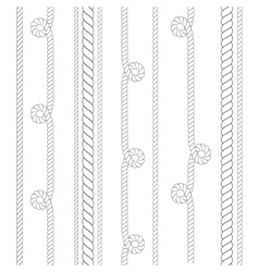 Nautical or climbing rope thin and thick vector