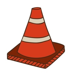Safety orange cone vector