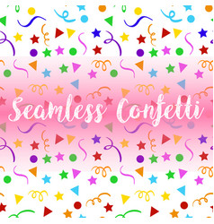 Seamless confetti background with stars and vector