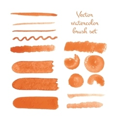 Set of watercolor brush strokes vector image