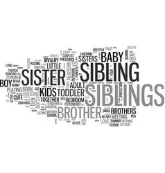 Sibling word cloud concept vector