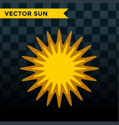 Sun burst star icon summer vector
