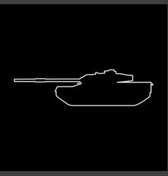 Tank white color path icon vector