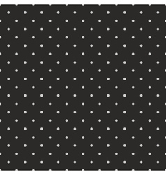 Tile pattern grey polka dots black background vector image vector image