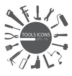 tools icon set vector image vector image