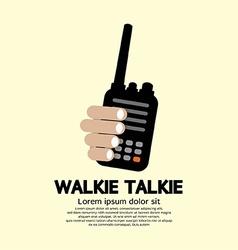 Walkie talkie in hand vector