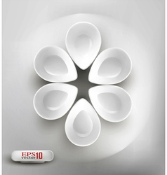 white plates vector image vector image