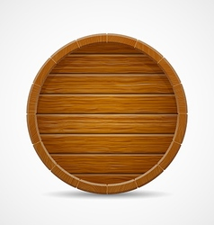 Wooden barrel top end background vector