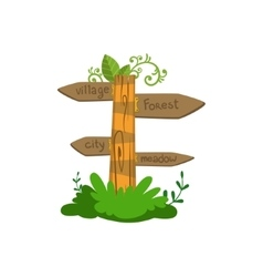 Wooden Direction Sign vector image vector image