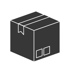 Box package delivery icon vector