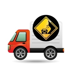Collapse traffic sign concept vector