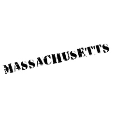 Massachusetts stamp rubber grunge vector