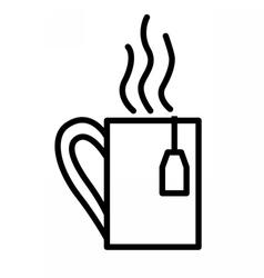 Tea cup linear icon vector image