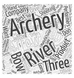 Three rivers archery word cloud concept vector