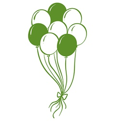 A green and white balloons vector