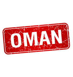 Oman red stamp isolated on white background vector