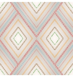Seamless pattern with geometric elements vector