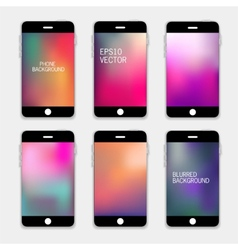 Phones backgrounds vector