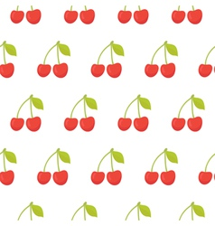 Cute seamless pattern with cherries vector
