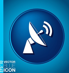 Satellite dish icon radar sign antenna symbol vector