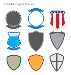 Shield and insignia shapes vector