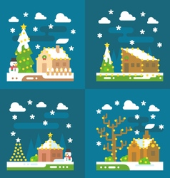 Christmas light decoration flat design vector