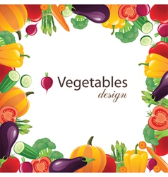 Vegetables frame for your designs - vector