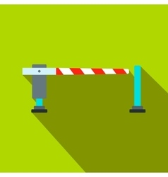 Railway barrier flat icon vector