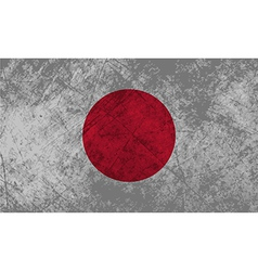 Japanese flag grunge vector