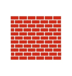 Red brick wall icon vector