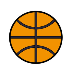 Basket ball isolated vector