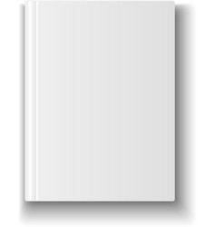Blank book cover template on white background with vector