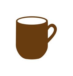 Brown silhouette big mug with handle vector