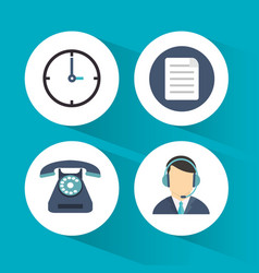 Call center service line vector