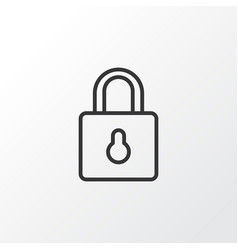Close padlock icon symbol premium quality vector