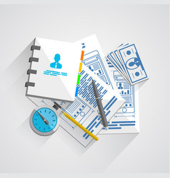 collage documents vector image