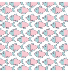 cute fish pattern isolated icon vector image vector image
