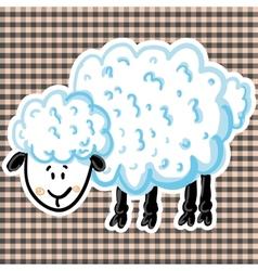 cute sheep vector image vector image