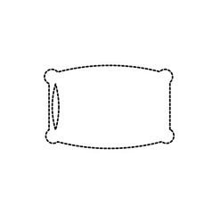 dotted shape nice soft pillow to comfortable sleep vector image