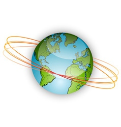 earth with orbits vector image vector image