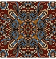 Ethnic bohemia fashion abstract indian pattern vector