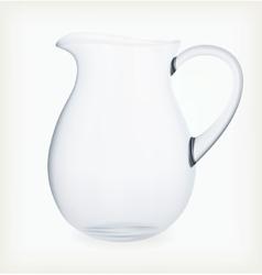 Glass jug vector