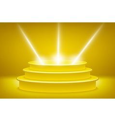 Golden podium in the form of hexagonal vector image vector image