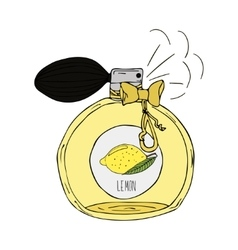 Hand Drawn of a perfume bottle with vector image vector image