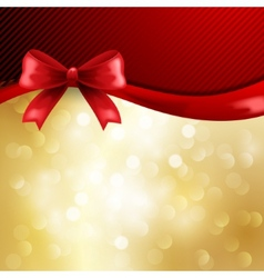 Holiday gift cards with ribbon vector image vector image