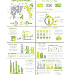 Infographic demographics population 3 yellow vector