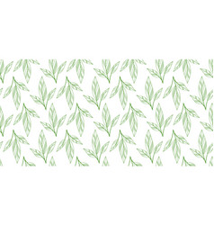 Leaves seamless background vector