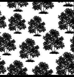 lilac bush seamless vector image
