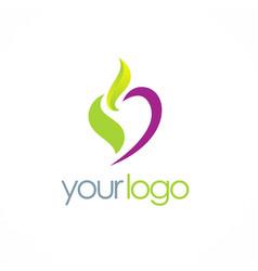 love eco beauty logo vector image